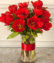 Red Tulip Bouquet