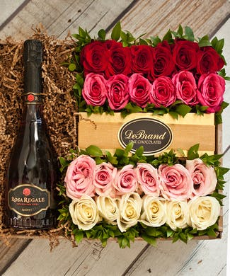 24 Roses & Rosa Regale Champagne Gift Box