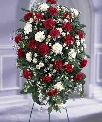 Traditional Carnation Standing Spray