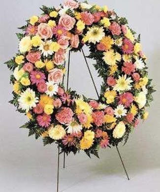 Thoughtful Reflections Standing Funeral Wreath