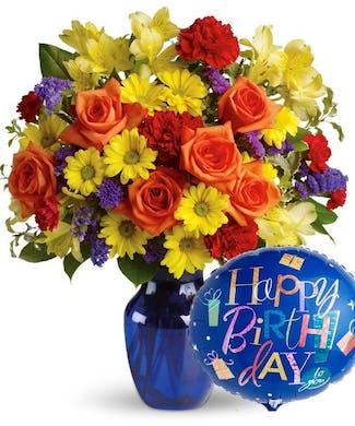 Fly Away Birthday Vase