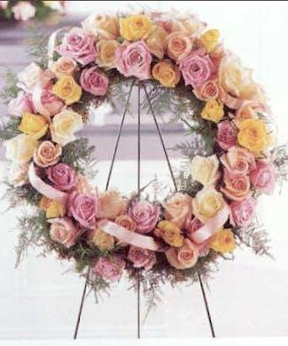Rose Garden Standing Wreath