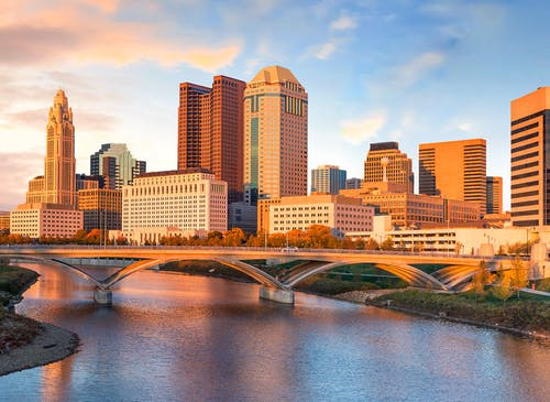 A striking view of downtown Columbus